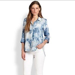 Cloth & Stone Chambray Shirt Acid Wash Blue Size M